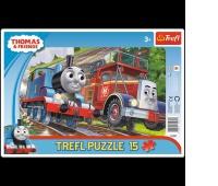 31231 15 Ramkowe - Tomek i Felek / Thomas and Friends, Puzzle, Zabawki