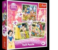 34038 3w1 - Królewna Śnieżka / Disney Princess / Snow White, Puzzle, Zabawki
