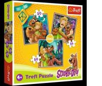 34145 3w1 - Uwaga! Duchy! / Warner Scooby Doo, Puzzle, Zabawki