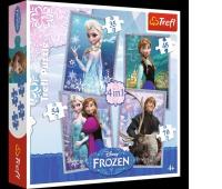 34210 4w1 - Frozen / Disney Frozen, Puzzle, Zabawki