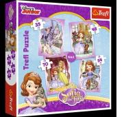 34247 4w1 - Wesoły dzień Zosi / Disney Sofia the First, Puzzle, Zabawki