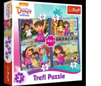 34265 4w1 - Dora / Viacom Dora and Friends, Puzzle, Zabawki