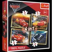 34276 4w1 - Gotowi do wyścigu / Disney Cars 3, Puzzle, Zabawki