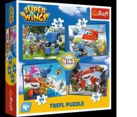 34280 4w1 - Odlotowa paczka / CJ E&M Super Wings, Puzzle, Zabawki