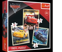34820 3w1 - Legendy wyścigu / Disney Cars 3, Puzzle, Zabawki