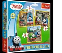 34821 3w1 - Tomek rusza do akcji / Thomas and Friends, Puzzle, Zabawki