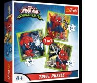 34822 3w1 - Świat Spidermana / Disney Marvel Spiderman, Puzzle, Zabawki