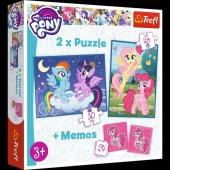 90601 Puzzle 2w1 + memos - Przyjaźń to magia / Hasbro, My Little Pony, Puzzle, Zabawki