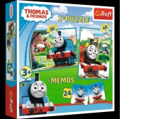 90602 Puzzle 2w1 + memos - Tomek i przyjaciele / Thomas and Friends, Puzzle, Zabawki