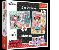 90605 Puzzle 2w1 + memos - Hobby Minnie / Disney Minnie, Puzzle, Zabawki