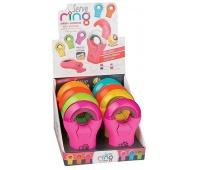 RING gumka + temp. 1-otw. x8 DISPLAY kolor MIX, Zestawy, Artykuły do pisania i korygowania