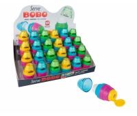 BOBO gumka + temp. 1-otw. x20 DISPLAY kolor MIX, Zestawy, Artykuły do pisania i korygowania