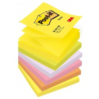 Post-it® Z-Notes Neon Colours, 6 Pads, 76 mm x 76 mm