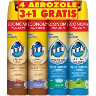 Pianka do mebli PRONTO, 4x300ml, mix zapachów, Środki czyszczące, Artykuły higieniczne i dozowniki