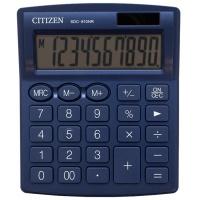 Kalkulator biurowy CITIZEN SDC-810NRNVE, 10-cyfrowy, 127x105mm, granatowy, Kalkulatory, Urządzenia i maszyny biurowe