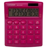 Kalkulator biurowy CITIZEN SDC-810NRPKE, 10-cyfrowy, 127x105mm, różowy, Kalkulatory, Urządzenia i maszyny biurowe