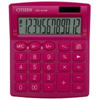 Kalkulator biurowy CITIZEN SDC-812NRPKE, 12-cyfrowy, 127x105mm, różowy, Kalkulatory, Urządzenia i maszyny biurowe