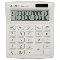 Kalkulator biurowy CITIZEN SDC-812NRWHE, 12-cyfrowy, 127x105mm, biały, Kalkulatory, Urządzenia i maszyny biurowe