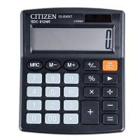 Kalkulator biurowy CITIZEN SDC-812NR, 12-cyfrowy, 127x105mm, czarny