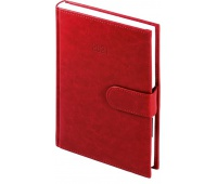 Kalendarz A4 tygodniowy Nebraska na magnes, czerwony, Kalendarze, Wyposażenie biura