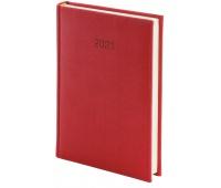 Kalendarz A4 dzienny Vivella, czerwony, Kalendarze, Wyposażenie biura