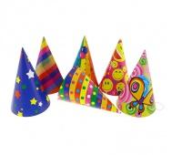 Czapeczka PARTY papierowa , mix wzorów/ 144 szt., Party, Artykuły dekoracyjne
