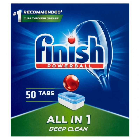 Tabletki do zmywarki FINISH All-in-one Powerball, 50szt., regular, Środki czyszczące, Artykuły higieniczne i dozowniki