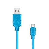 Uniwersalny kabel USB 2.0 do USB-C EXC Whippy, 2m, niebieski, Złącza i adaptery, Akcesoria komputerowe