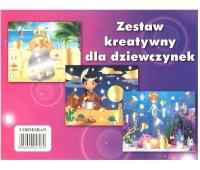 Zestaw kreatywny A4 dla dziewczynek, Zestawy kreatywne, Artykuły dekoracyjne