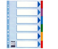 Przekładki Esselte z kolorowego kartonu, A4, Wielobarwny, Przekładki kartonowe, Archiwizacja dokumentów