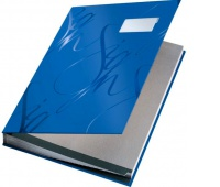 Książka na dokumenty do podpisu Leitz, Niebieski, Teczki do podpisu i korespondencyjne, Archiwizacja dokumentów