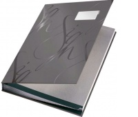 Książka na dokumenty do podpisu Leitz, Szary, Teczki do podpisu i korespondencyjne, Archiwizacja dokumentów