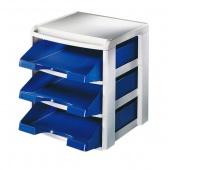 Moduł na półki Leitz Plus, Niebieski, Szufladki - zestawy, Archiwizacja dokumentów