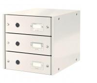 Pojemnik z szufladami Leitz Click & Store, Biały, Szufladki - zestawy, Archiwizacja dokumentów