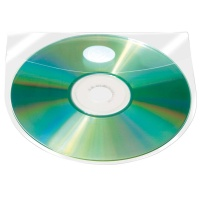 Self-adhesive Pocket Q-CONNECT, for 2 CD/DVD, 127x127mm, 10pcs