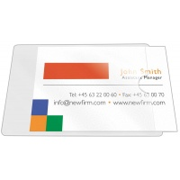Self-adhesive Pocket Q-CONNECT, for business cards, short-side opening, 55x102mm, 10pcs