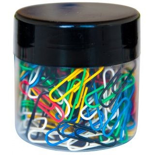 Spinacze okrągłe Q-CONNECT, 26mm, 150szt., w plastikowym słoiku, mix kolorów, Spinacze, Drobne akcesoria biurowe