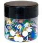 Pinezki klasyczne Q-CONNECT, w plastikowym słoiku, 300szt., mix kolorów