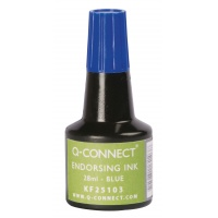 Stamp Ink Q-CONNECT, 28ml, blue