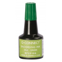 Stamp Ink Q-CONNECT, 28ml, green