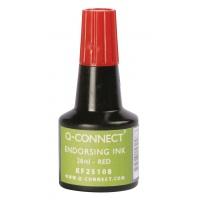 Stamp Ink Q-CONNECT, 28ml, red
