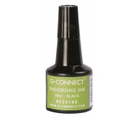 Stamp Ink Q-CONNECT, 28ml, black