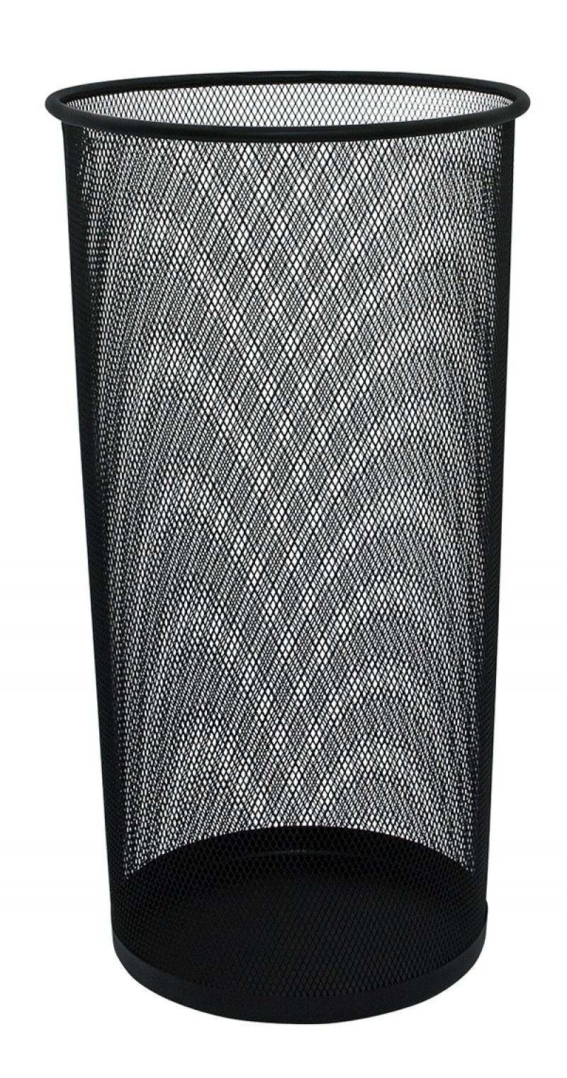 Stojak na parasole Q-CONNECT Office Set, metalowy, czarny, Kosze metal, Wyposażenie biura