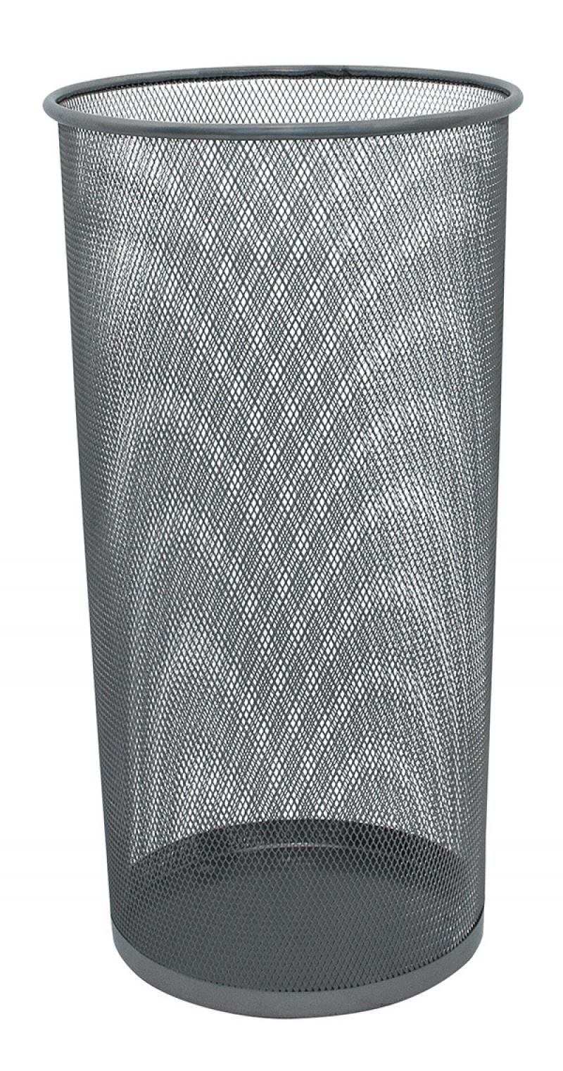 Stojak na parasole Q-CONNECT Office Set, metalowy, srebrny, Kosze metal, Wyposażenie biura