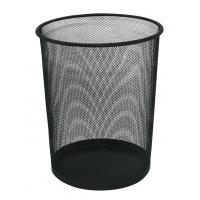 Kosz na śmieci Q-CONNECT Office Set, metalowy, 19l, czarny, Kosze metal, Wyposażenie biura