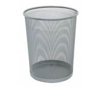Waste Bin Q-CONNECT, metal, 19l, silver