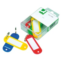 Key Tags Q-CONNECT, 58x20mm, 6pcs, assorted colours