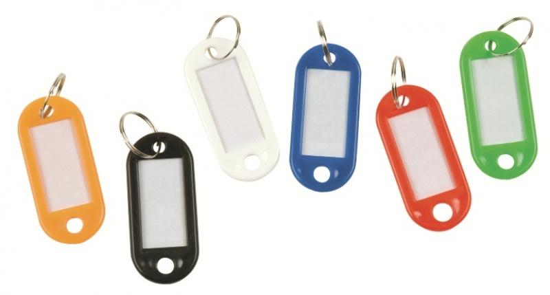 Zawieszki na klucze Q-CONNECT, 58x20mm, 240szt., mix kolorów, Szafki na klucze, Wyposażenie biura