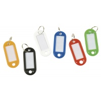 Key Tags Q-CONNECT, 50x22mm, 100pcs, yellow