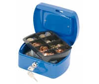 Kasetka na pieniądze Q-CONNECT, mała, 155x75x120mm, niebieska, Kasetki na pieniądze, Wyposażenie biura